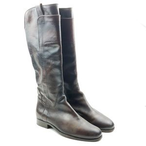 Frye Melissa vintage dark brown tall riding boots